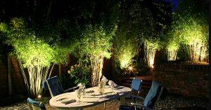 đèn led sân vườn kingled hắt cây