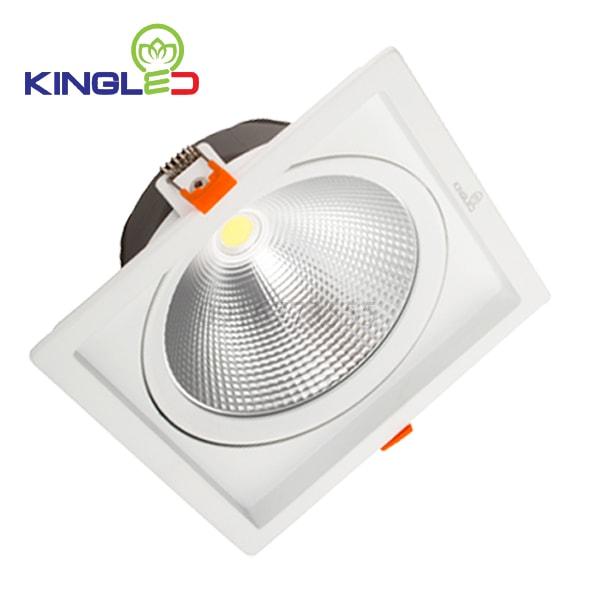 Đèn led spotlight 20w COB vuông Kingled DLR-20-V145