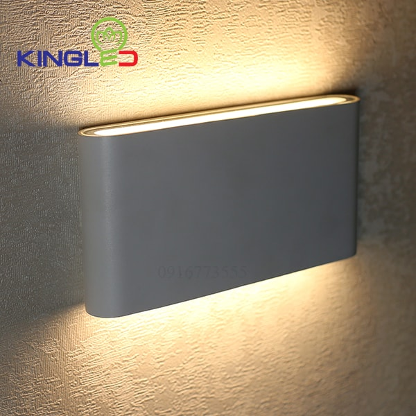 Đèn led gắn tường ngoài trời 12w Kingled LWA8011-M