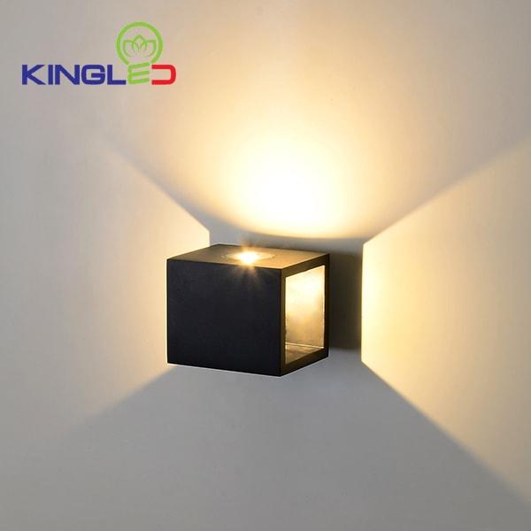 Đèn led gắn tường ngoài trời 2*5w Kingled LWA0100A-BK