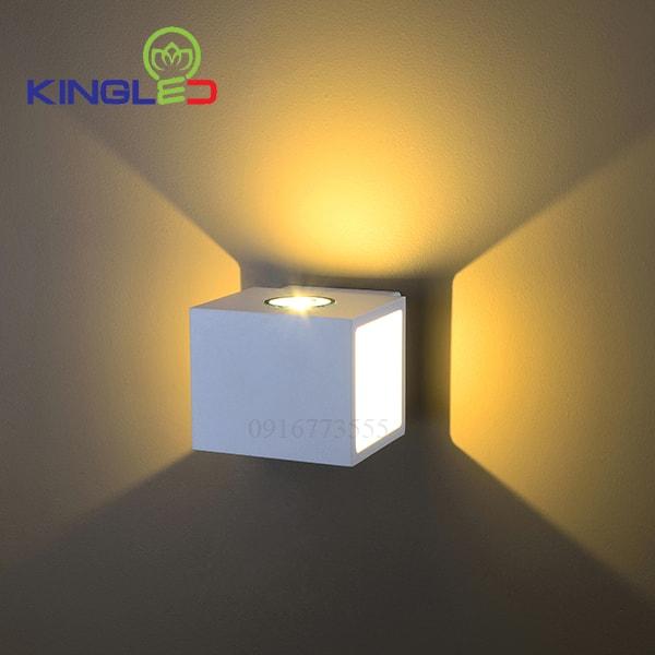 Đèn led gắn tường ngoài trời 2*5w Kingled LWA0100A-WH