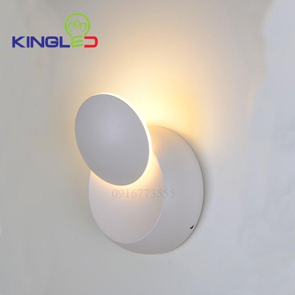 Đèn led gắn tường trong nhà 6w Kingled LWA0104A-WH
