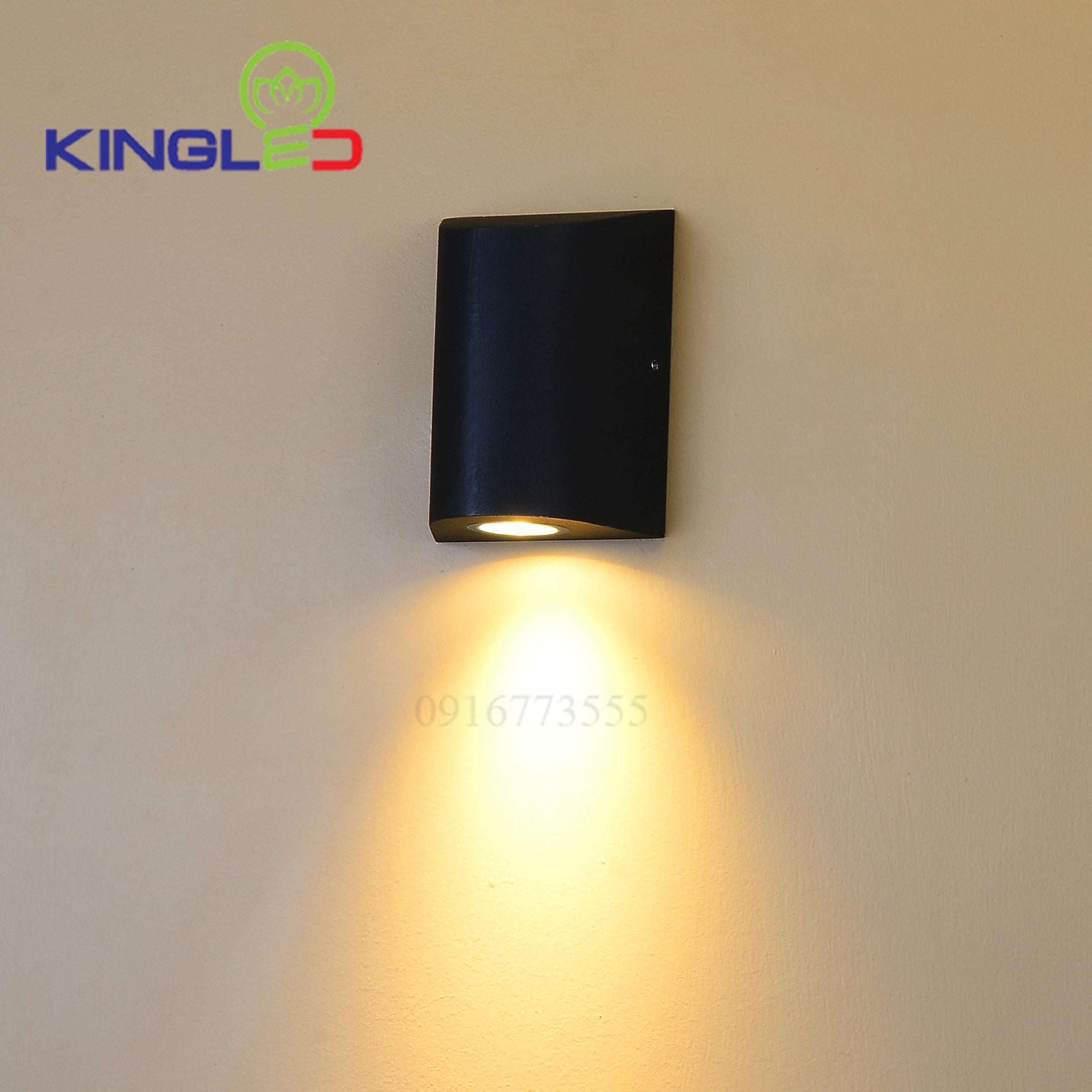 Đèn led gắn tường ngoài trời 12w Kingled LWA0148A-BK