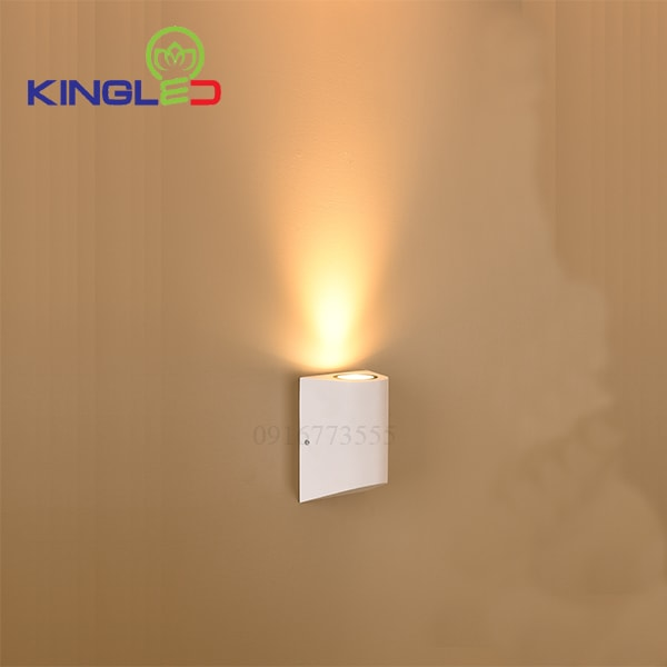 Đèn led gắn tường ngoài trời 12w Kingled LWA0148A-WH