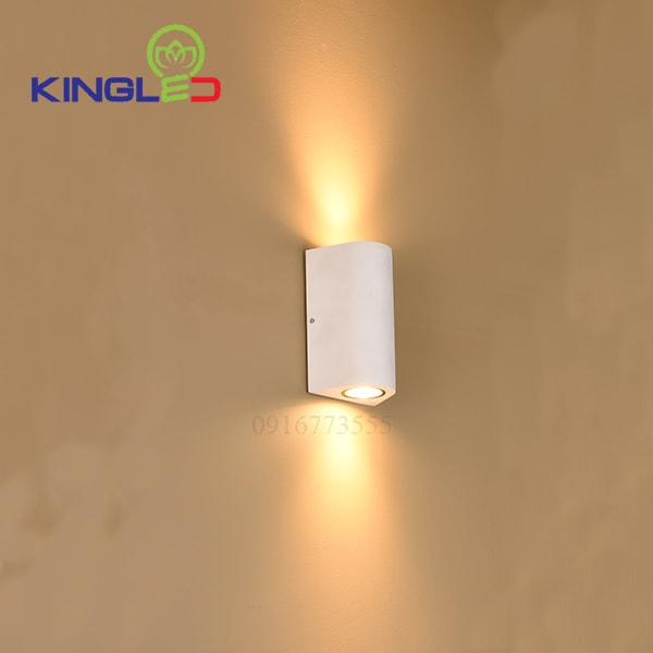 Đèn led gắn tường ngoài trời 2*7w Kingled LWA0148B-WH