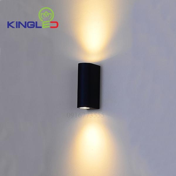 Đèn led gắn tường ngoài trời 2*7w Kingled LWA0149A-BK
