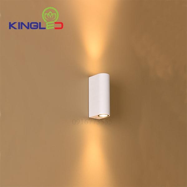 Đèn led gắn tường ngoài trời 2*7w Kingled LWA0149A-WH