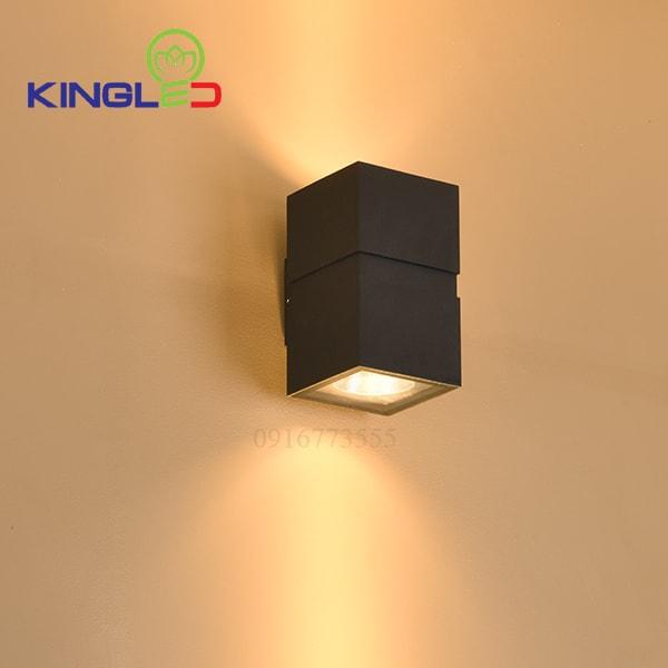 Đèn led gắn tường ngoài trời 2*12w Kingled LWA0150B-BK