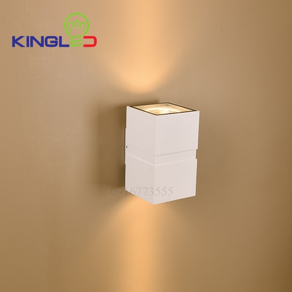 Đèn led gắn tường ngoài trời 2*12w Kingled LWA0150B-WH