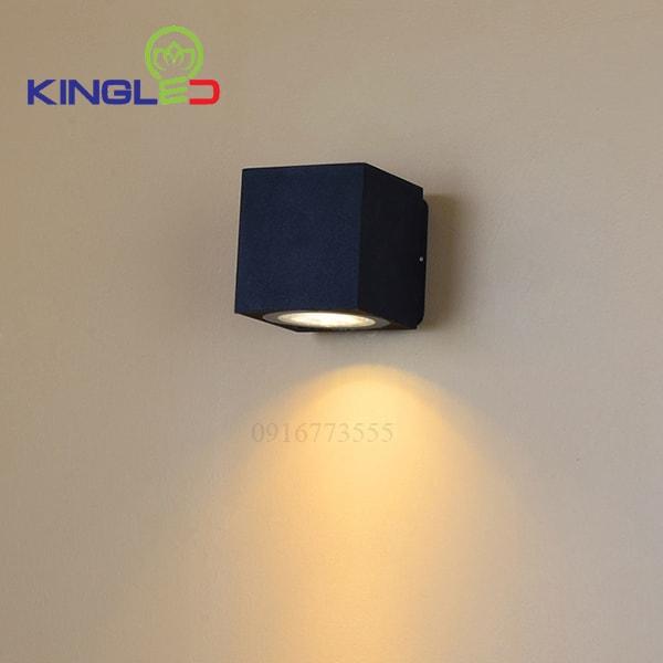 Đèn led gắn tường ngoài trời 12w Kingled LWA0150A-BK