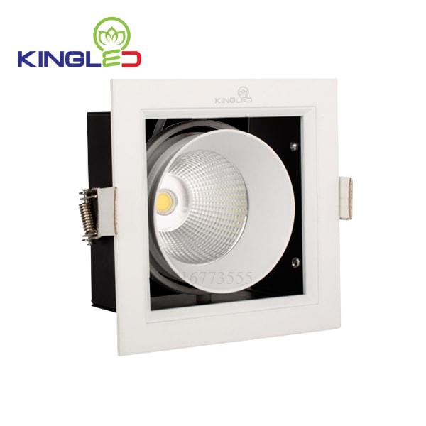 Đèn led spotlight 10w đơn vuông dạng hộp Kingled GL-1*10-V120